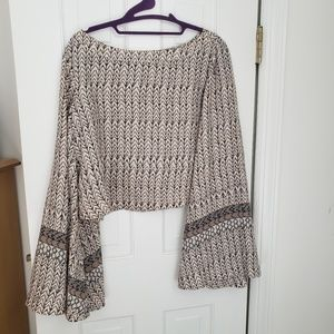 Free People Cropped Blouse